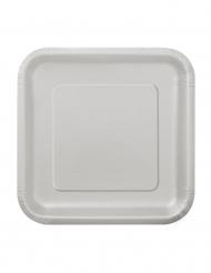 Tallerkener 16 stk. små sølv