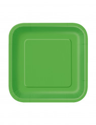 Små firkantet paptallerkener 18 cm