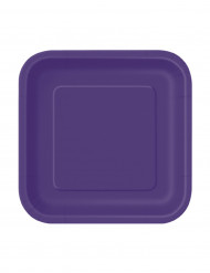 Små lilla tallerkener i pap