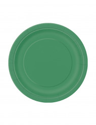 Tallerkener 20 stk. små smaragdgrøn