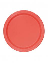Tallerkener 20 stk. små røde i pap