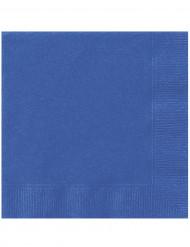 20 Servietter blå 33 x 33 cm