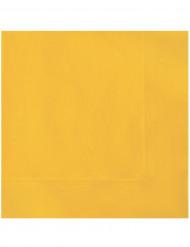 20 papirservietter Gule 33x33 cm