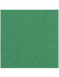 20 Papirservietter Smaragdgrønne 33 x 33 cm