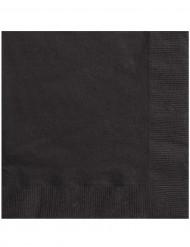 Servietter 50 stk. sorte 33x33 cm