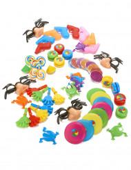 64 små spil til en piñata