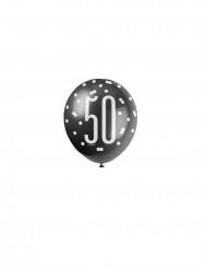 Balloner 6 stk 50 års