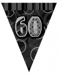 Guirlande med grå faner 60 års