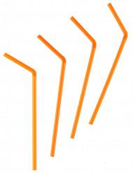 Orange bøjelige sugerør