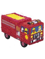 Brandbil piñata rød