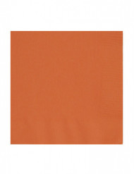 50 servietter orange 33x33 cm