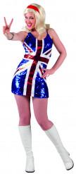 Kostume det engelske flag kvinde