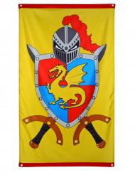 Dekoration til mur ridder