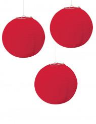3 røde lanterner