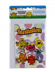6 Invitationskort med kuverter Hr. Mand og lille frøken™