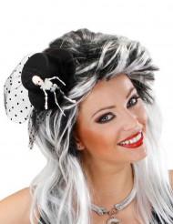 Høj hat i miniformat med skelethånd voksne