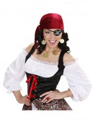 Kit med halskæde og øreringe i piratstil voksne