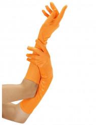 Lange neonorange handsker