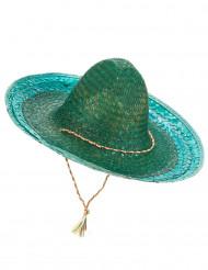 Grøn mexicansk sombrero til voksne