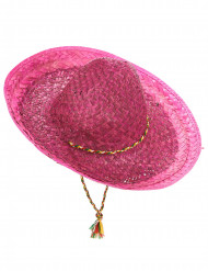 Lyserød mexicansk sombrero til voksne