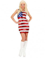 Kostume kjole paillettermiss USA til kvinder