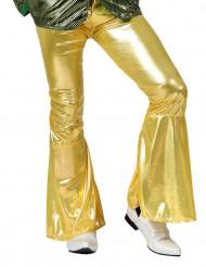 Disko-bukser i guld mand