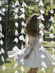 Guirlande hvide fjer