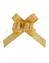 10 stk guldglimmer sløjfer
