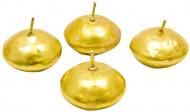 4 flydende guldfarvede lys