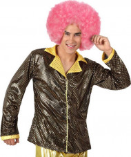 Guldfarvet disko-jakke voksen