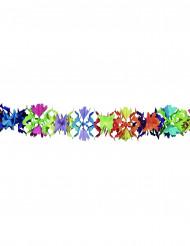 Papirguirlande med multifarvet blomstermotiv