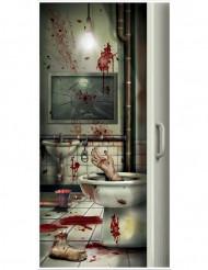 Blodig toiletdørsdekoration