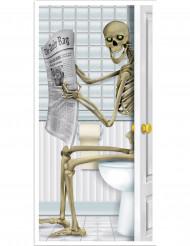 Dekoration skelet på toilet