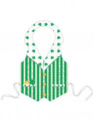 Plasticforklæde med grøn Leprechaun St. Patrick voksne