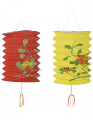Kinesiske lanterner rød og gul