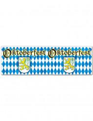 Blå og hvid Oktoberfest banner
