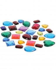 Pose med falske ædelsten i forskellige farver