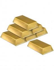 Falske guldbar 6 stk.