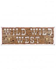 Plastik banner Wild Wild West 1,5 x 53,3 cm