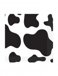 Servietter 16 stk. små ko mønster 25 x 25 cm