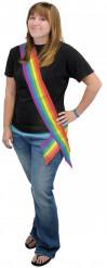 Regnbuefarvet halstørklæde