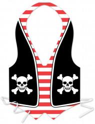 Plasticforklæde pirat herrer