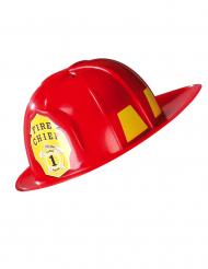 Rød brandmandshjelm voksne