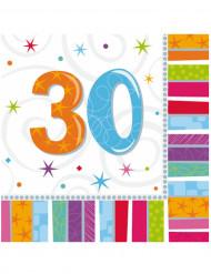 Multifarvet fødselsdagsservietter