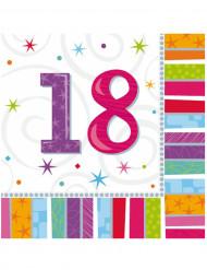 16 Papirservietter 18 års 33 x 33 cm