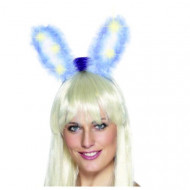 Blå lysende kaninører