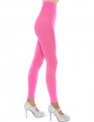 Neonlyserøde leggings voksne