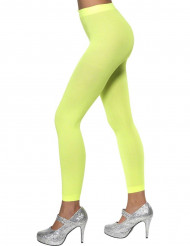 Neongrønne leggings dame