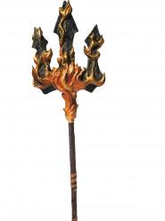 Djævle trefork med flammer