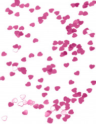 Lyserødt metallicfarvet hjerteformet konfetti